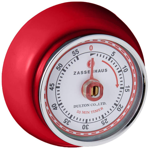 "Retro Kitchen Timer with magnet 2.75"" x 1.25"""
