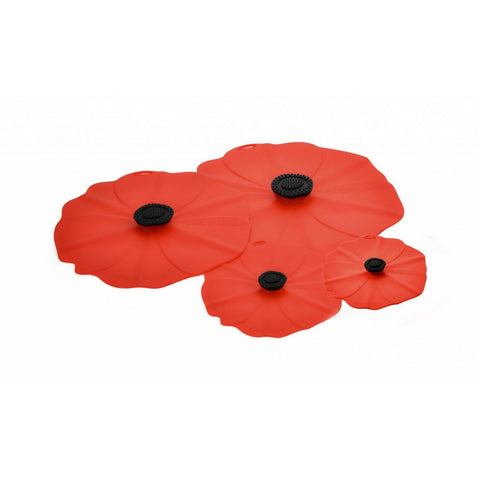 Airtight Silicone Lid Poppy Gift Set of 4