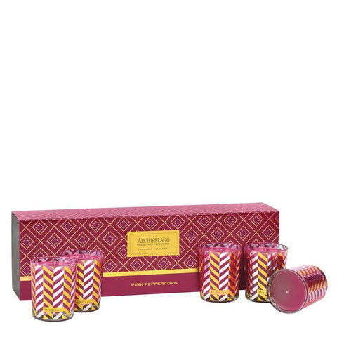 Pink Peppercorn Votive Gift Set