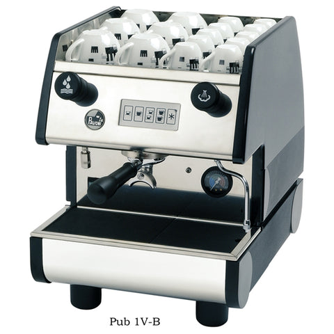 La Pavoni PUB 1V-B 1 Group Volumetric, Black Commercial Espresso Maker