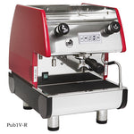 La Pavoni PUB 1V-R 1 Group Volumetric, Red Commercial Espresso Maker