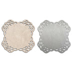 Floral Square Double-Sided Coasters Set of 4