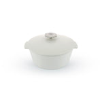 White Round Ceramic Cookware -3.75QT - Induction Revolution 2