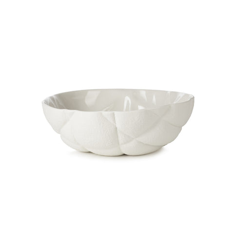 Large Salad Bowl Succession White