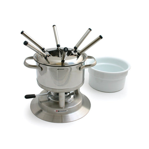 Arosa 11pc Stainless Fondue Set