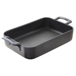 Black Cast Iron Style Rectangular Baker Belle Cuisine  11.75 X 8.5 X 2.5