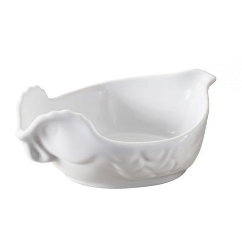 White Porcelain Individual Chicken Roaster