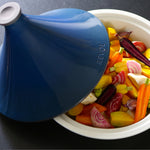 Tajine Induction Ceramic Cookware Blue 3.75QT - Revolution 2