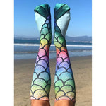 Mermaid Rainbow Knee High Socks