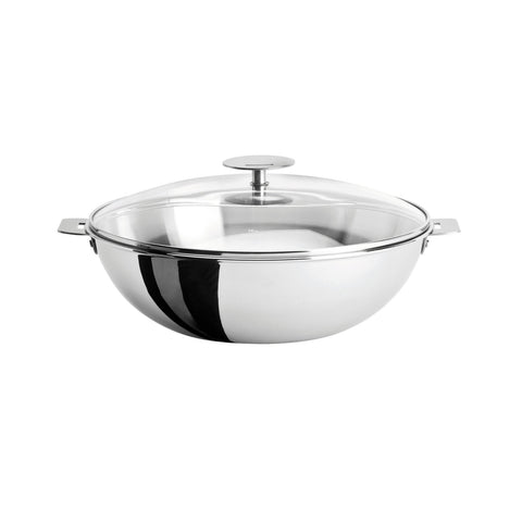 Casteline Wok With Domed Glass Lid
