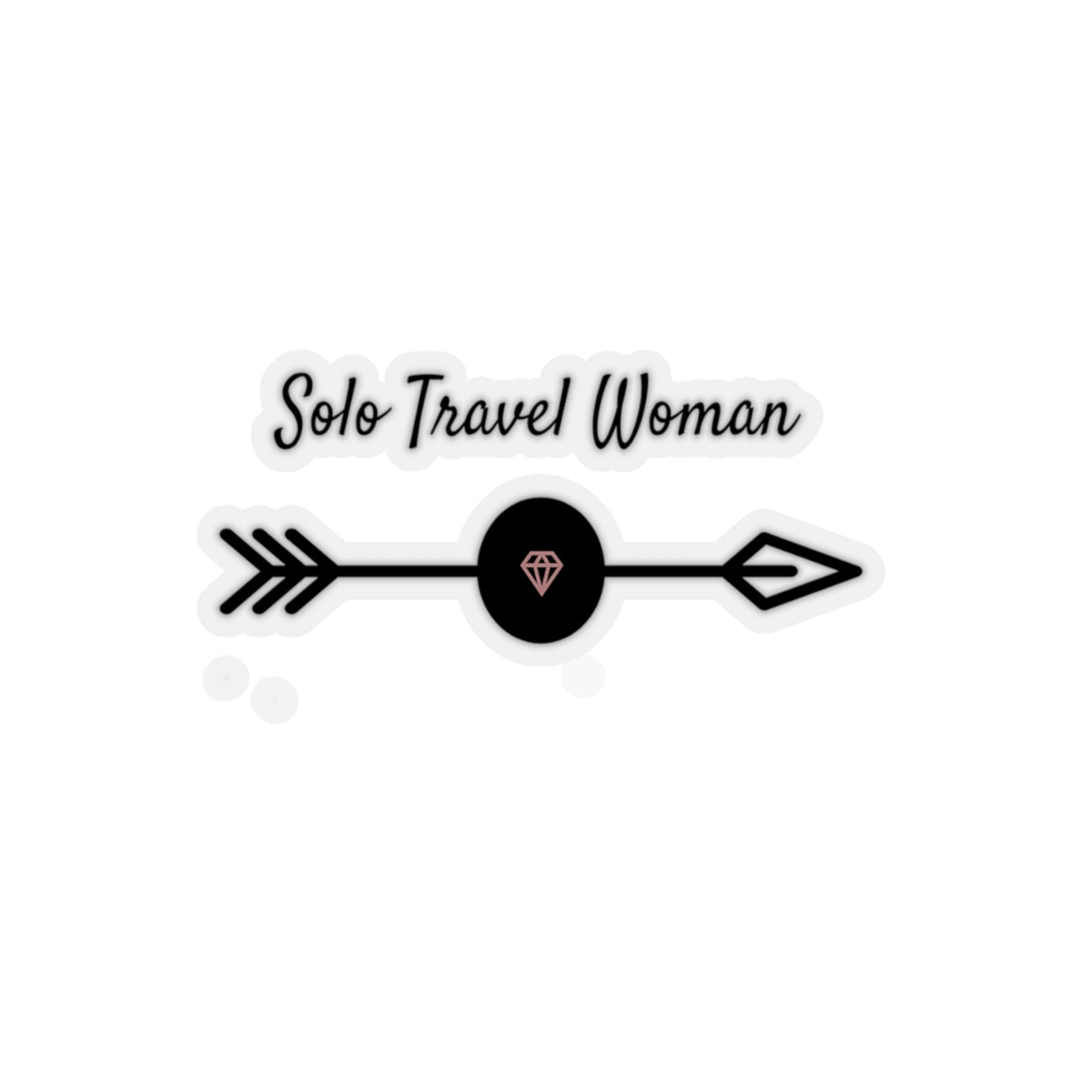 Solo Travel Woman Kiss-Cut Stickers - Solo Travel Woman
