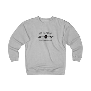 Solo Travel Woman's Empowered & Independent Unisex Heavyweight Fleece Crew - Solo Travel Woman