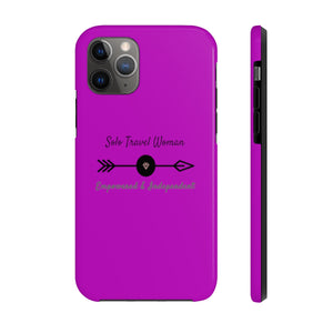 Case Mate Tough Phone Case for iPhone 11 (other variants available) - Solo Travel Woman