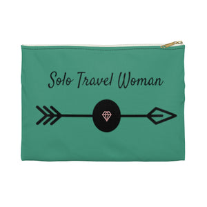 Solo Travel Woman's Empowered & Independent  Accessory Pouch - Solo Travel Woman