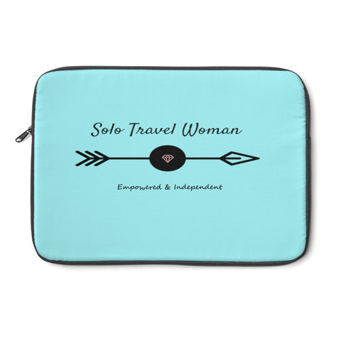 Solo Travel Woman's Empowered & Independent Laptop Sleeve - Solo Travel Woman