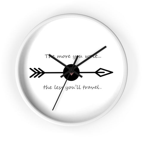 The more you wait...Wall clock