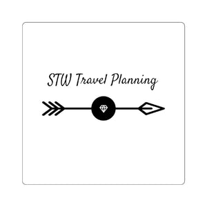 STW Travel Planning Square Stickers