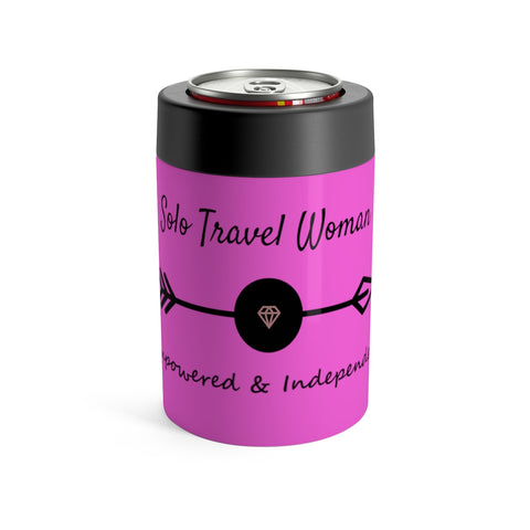 Solo Travel Woman's Empowered & Independent Can Holder - Solo Travel Woman