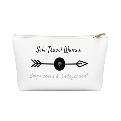 Solo Travel Woman Accessory Pouch w T-bottom