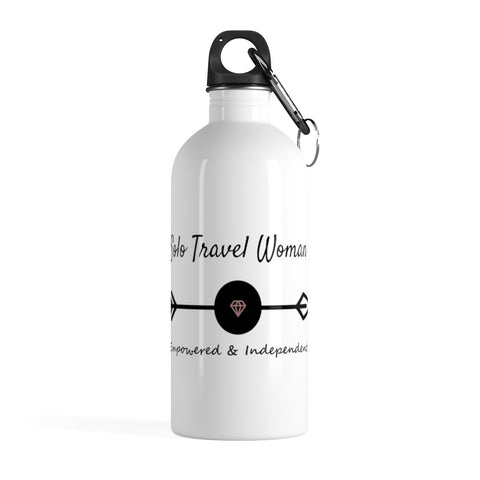 Solo Travel Woman's Empowered & Independent Stainless Steel Water Bottle - Solo Travel Woman