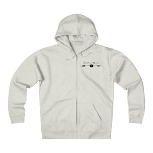 Solo Travel Woman's Empowered & Independent Unisex Heavyweight Fleece Zip Hoodie - Solo Travel Woman