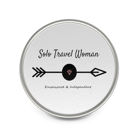 Solo Travel Woman's Empowered & Independent  Metal Pin - Solo Travel Woman