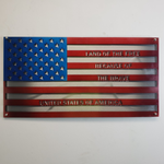 """Because of the Brave"" / Double Layered US Flag"
