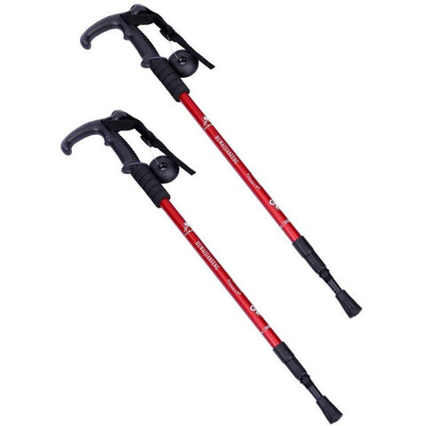 1 Pair Telescopic Walking Sticks