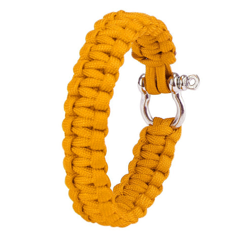 Paracord Survival Bracelet With Zinc Alloy