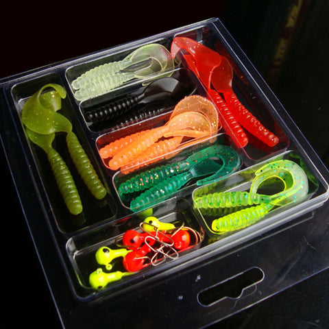 25 Pcs Soft Worm Simulation Lure Set