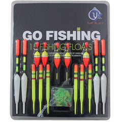 15 pcs Assorted Fishing Lure Floats