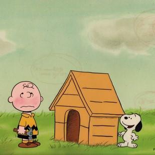 PEANUTS PRODUCTION ART: SNOOPY AND CHARLIE BROWN