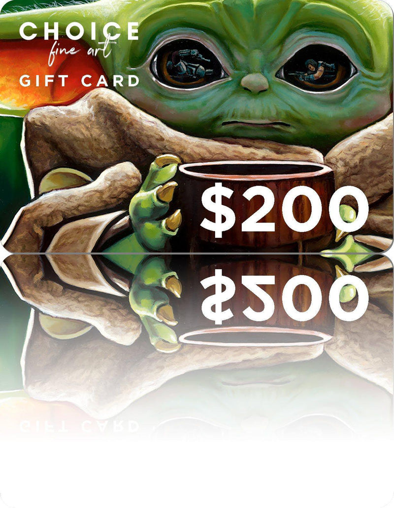 GIFT CARDS Gift Card CHOICE FINE ART $200.00 USD