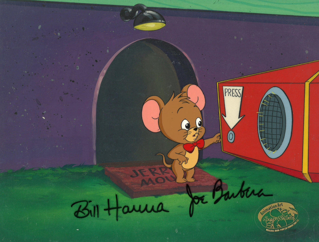 TOM AND JERRY KIDS KEY SETUP Original Production Cel Hanna Barbera Studio Art