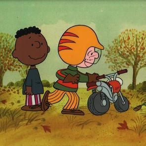 PEANUTS PRODUCTION ART: CHARLIE BROWN AND FRANKLIN