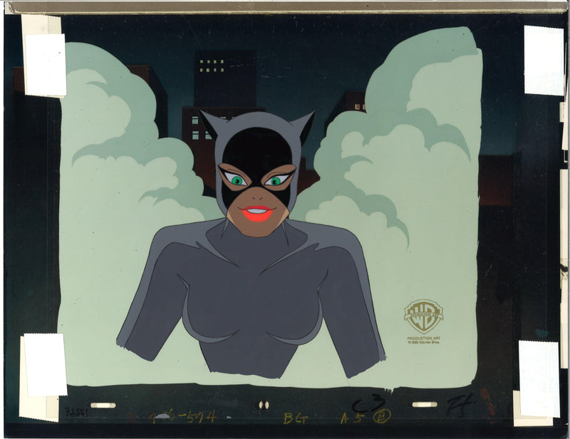 BATMAN THE ANIMATED SERIES PRODUCTION CEL: CATWOMAN Original Production Cel DC COMICS FINE ART