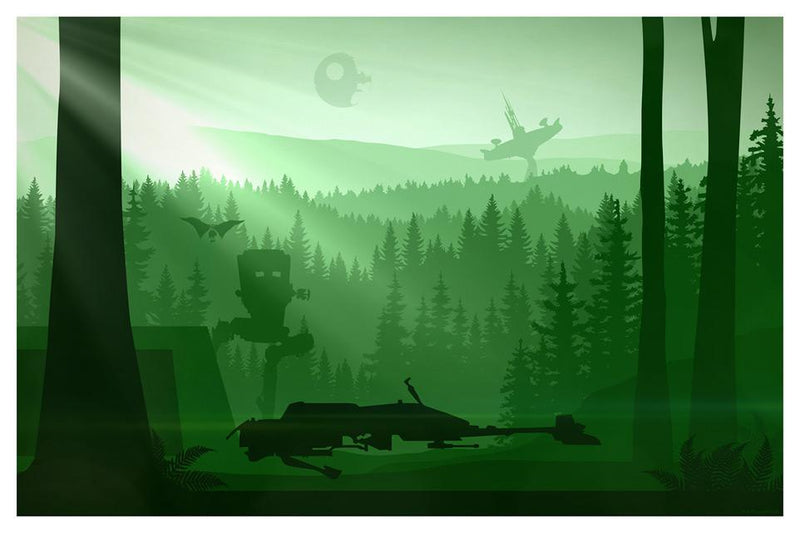 74-Z SPEEDER BIKE Lithograph STAR WARS FINE ART