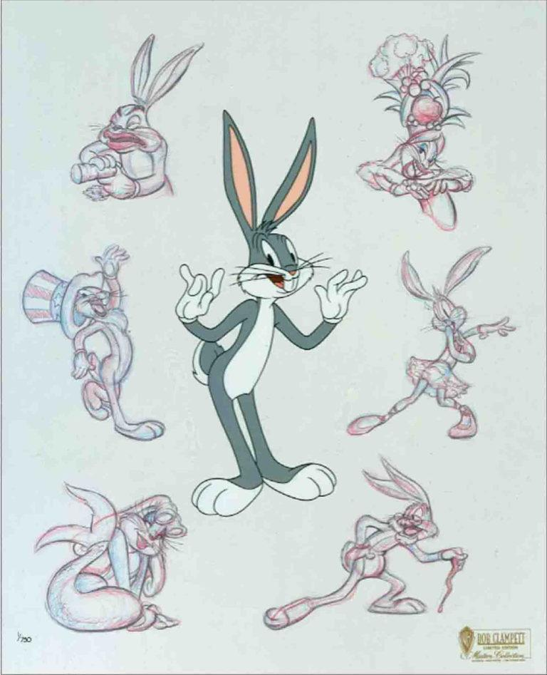 BUGS PERSONA Limited Edition Cel LOONEY TUNES FINE ART