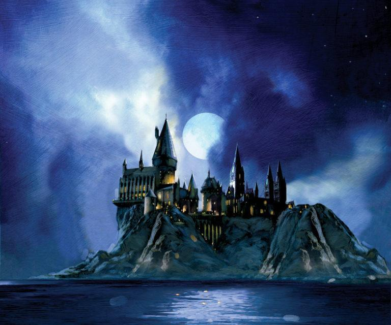 FULL MOON AT HOGWARTS Giclée On Paper/Canvas HARRY POTTER FINE ART