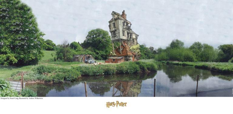 THE BURROW Giclée on Paper HARRY POTTER FINE ART