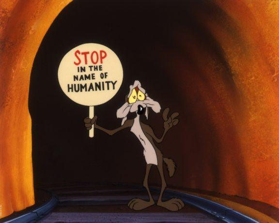 STOP IN THE NAME OF HUMANITY Giclée on Paper LOONEY TUNES FINE ART