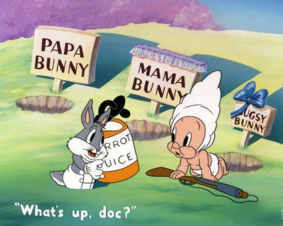 BABY BUGS AND ELMER Giclée on Paper LOONEY TUNES FINE ART