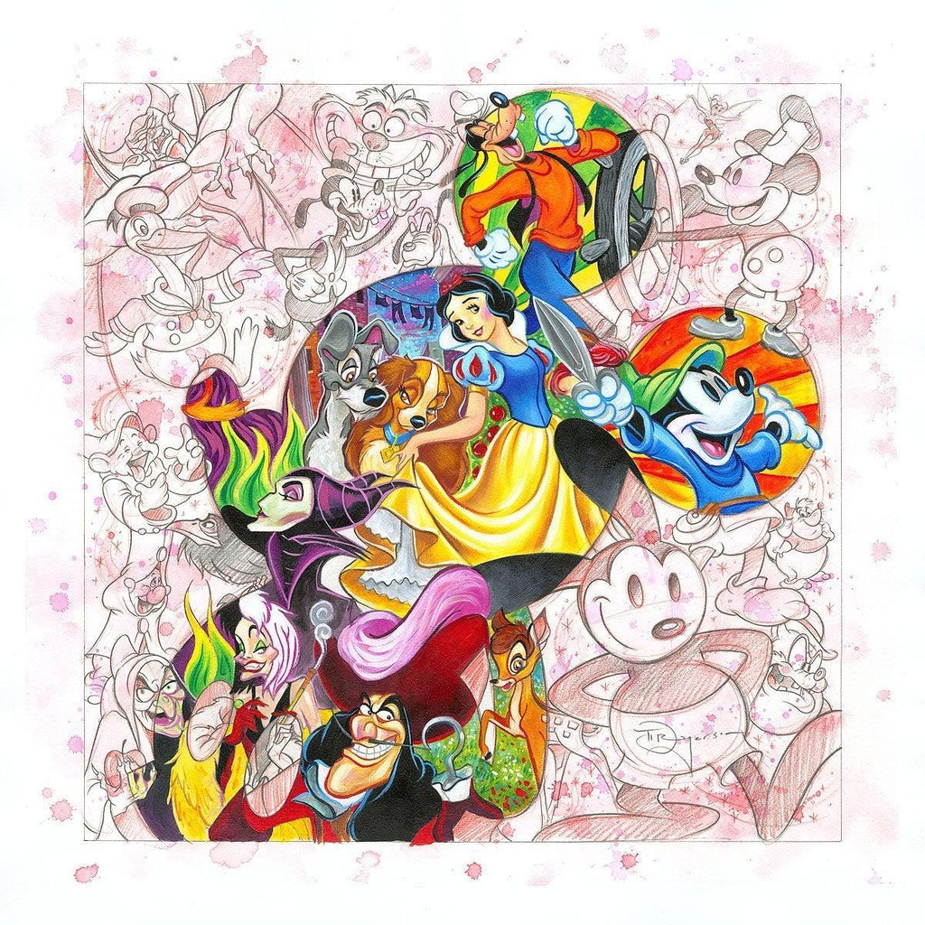 DISNEY LIMITED EDITION: COLORFUL CHARACTERS Giclée On Canvas DISNEY FINE ART