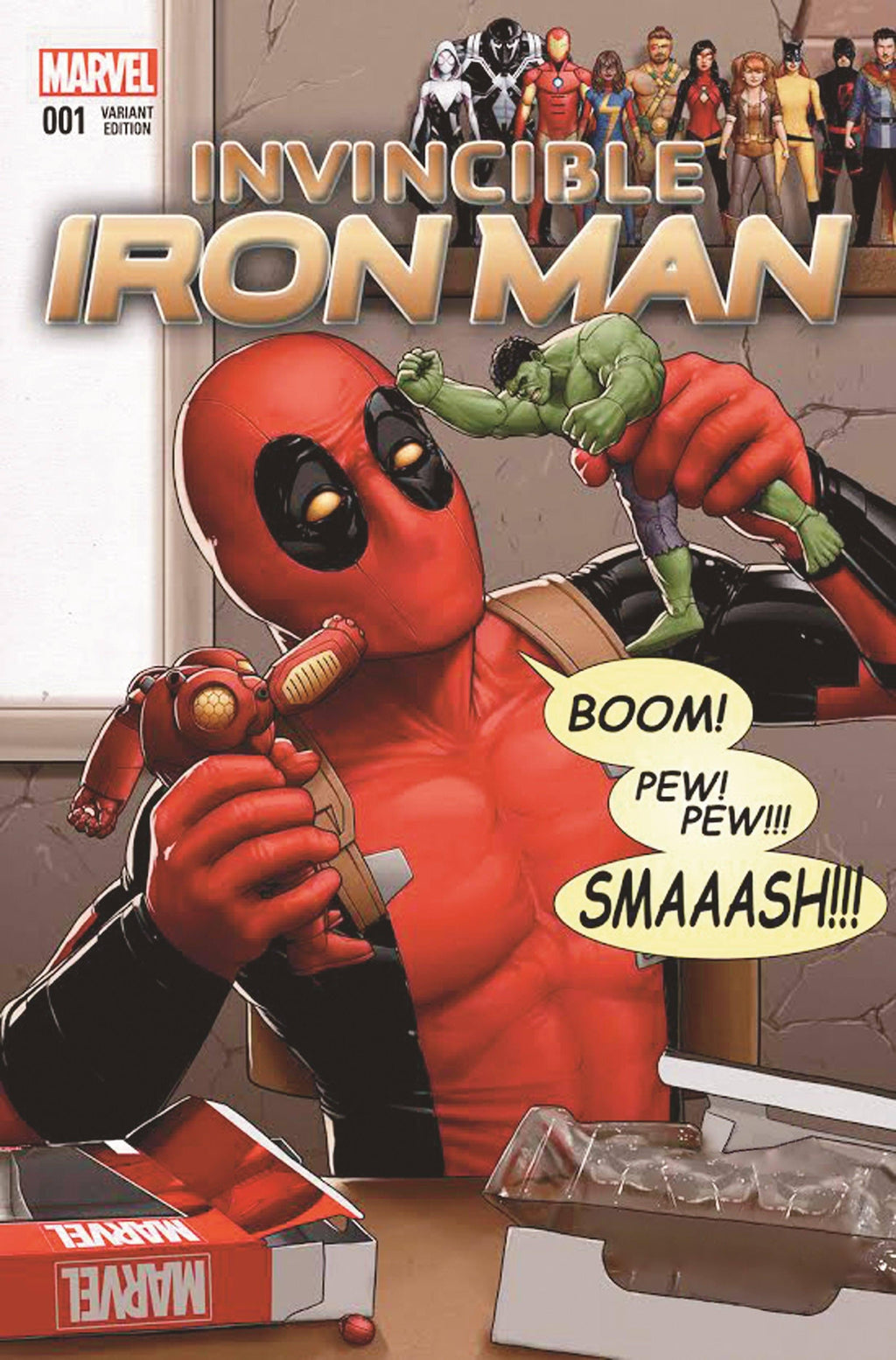 DEADPOOL: BOOM PEW PEW SMASH- MIGHTY MINI Mighty Mini MARVEL FINE ART