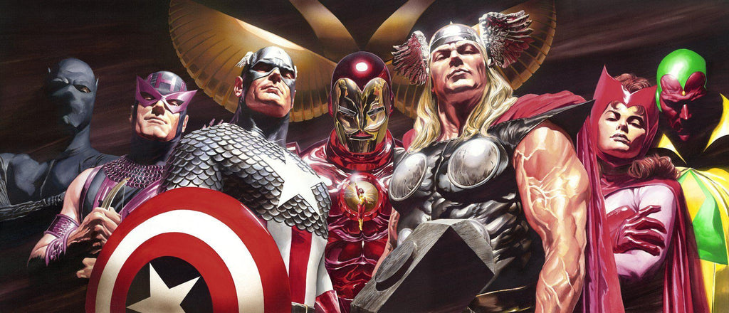 EPIC ASSEMBLE BY ALEX ROSS Giclee On Paper MARVEL FINE ART