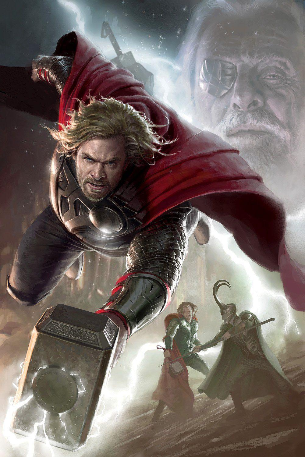 LEGENDS: THOR Giclée On Canvas MARVEL FINE ART