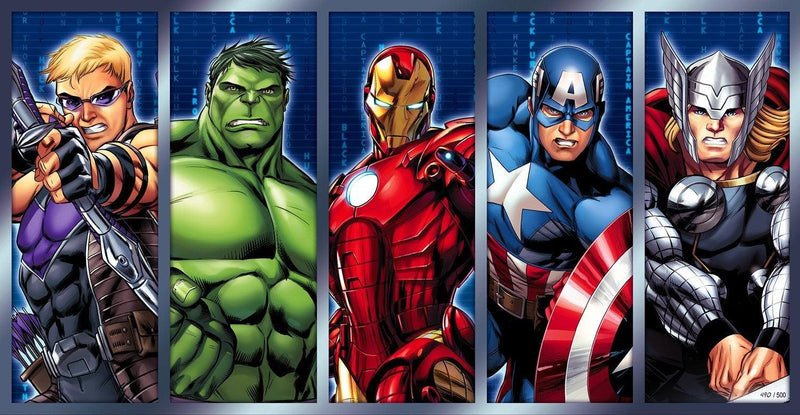 CHAMPIONS- MIGHTY MINI Giclée On Canvas MARVEL FINE ART