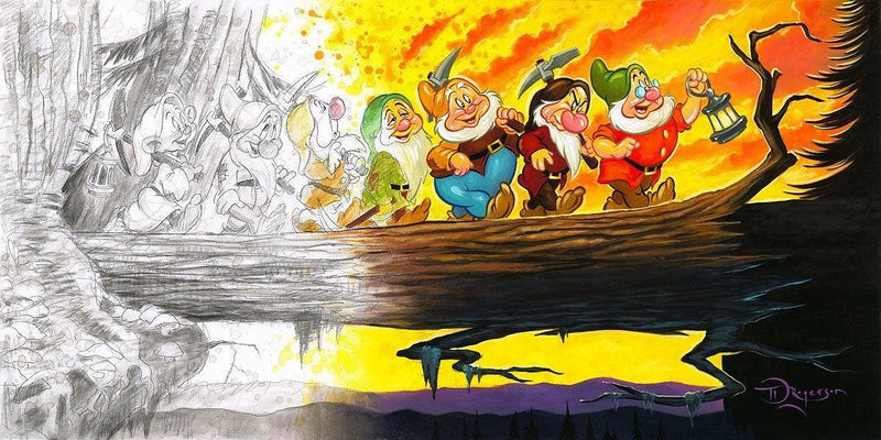 DISNEY LIMITED EDITION: MARCHING INTO HISTORY Giclée On Canvas DISNEY FINE ART