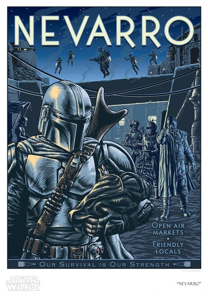 NEVARRO Giclée on Paper STAR WARS FINE ART