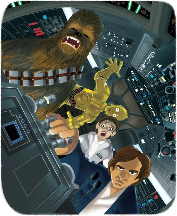 NEVER TELL ME THE ODDS Giclée on Paper STAR WARS FINE ART